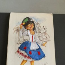 Postales: GRAN CANARIA. POSTAL BORDADA. AÑOS 80. ESCRITA. Lote 194393685