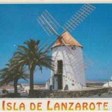 Postales: (513) LANZAROTE. TIAGUA. VILLA AGRICOLA . MOLINO ... LIGERO DOBLEZ. Lote 194617776