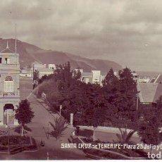 Postales: TENERIFE - PLAZA 25 DE JULIO Y CAPILLA PROTESTANTE JG 18. Lote 194657110