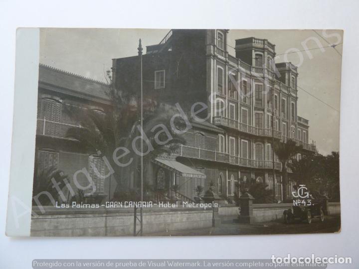 POSTAL ANTIGUA. HOTEL METROPOLE. QUINEYS ENGLISH. LAS PALMAS. JG Nº 43 (Postales - España - Canarias Antigua (hasta 1939))