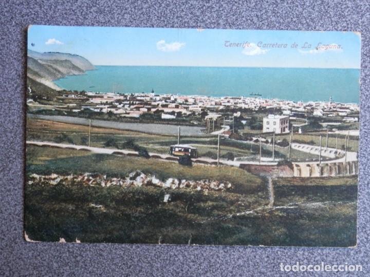 SANTA CRUZ DE TENERIFE CARRETERA DE LA LAGUNA POSTAL CIRCULADA AÑO 1915 (Postales - España - Canarias Antigua (hasta 1939))