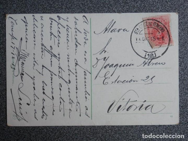 Postales: SANTA CRUZ DE TENERIFE CARRETERA DE LA LAGUNA POSTAL CIRCULADA AÑO 1915 - Foto 2 - 194949070
