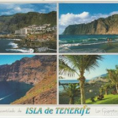 Postales: (66) TENERIFE. PLAYA D ELA ARENA Y ACANTILADO LOS GIGANTES. Lote 195015573
