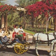 Postales: (6) LAS PALMAS DE GRAN CANARIA. EL GRUPO ROQUE NUBLO EN CARRETA DE CABALLO ... SIN CIRCULAR. Lote 195015993