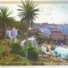 Postales: ESPANA & CIRCULADO, PLAYA DE LAS AMÉRICAS, TENERIFE, CAEN FRANCE (383) . Lote 195048447
