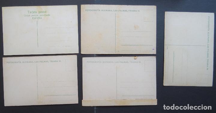 Postales: 5 antiguas postales de Las Palmas (Canarias) sin circular, ver fotos del reverso - Foto 2 - 195131718