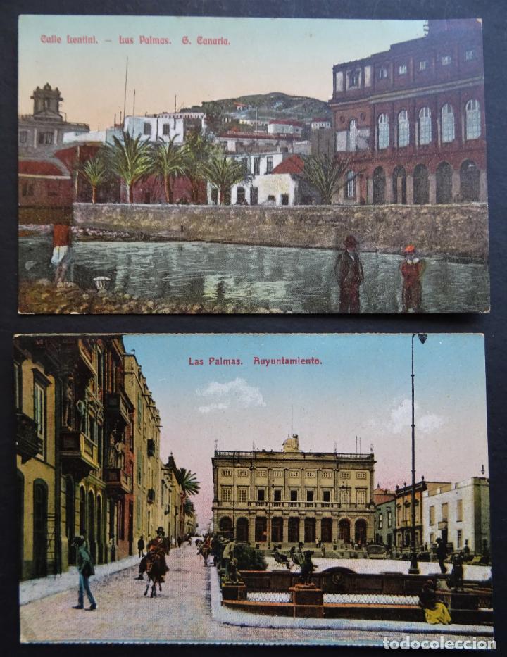 Postales: 5 antiguas postales de Las Palmas (Canarias) sin circular, ver fotos del reverso - Foto 3 - 195131718