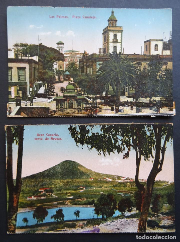 Postales: 5 antiguas postales de Las Palmas (Canarias) sin circular, ver fotos del reverso - Foto 4 - 195131718