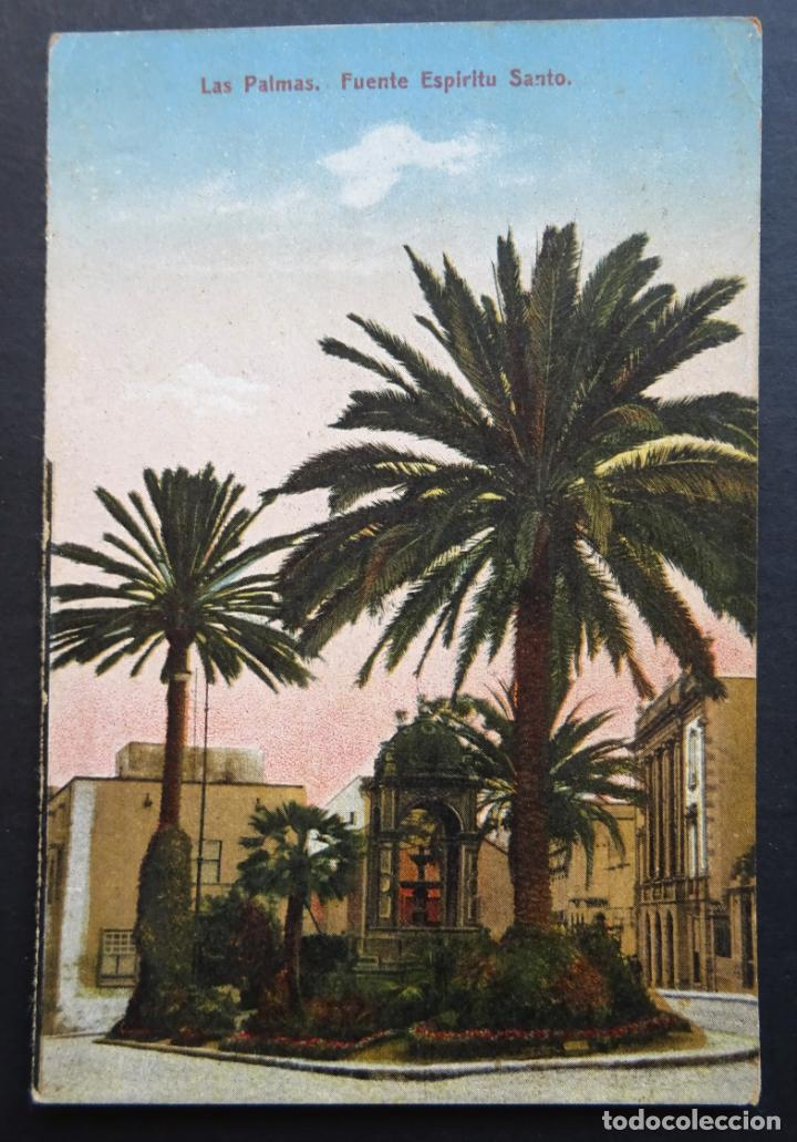 Postales: 5 antiguas postales de Las Palmas (Canarias) sin circular, ver fotos del reverso - Foto 5 - 195131718