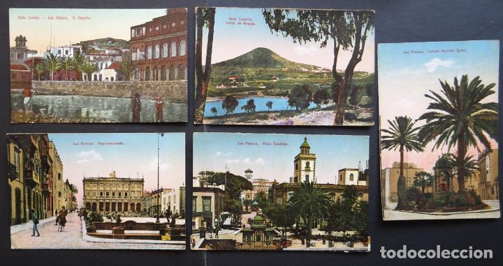 5 ANTIGUAS POSTALES DE LAS PALMAS (CANARIAS) SIN CIRCULAR, VER FOTOS DEL REVERSO (Postales - España - Canarias Antigua (hasta 1939))
