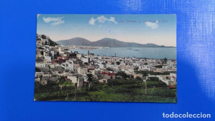 TARJETA POSTAL LAS PALMAS DE GRAN CANARIA - LAS PALMAS Y PUERTO DE LA LUZ (Postales - España - Canarias Antigua (hasta 1939))