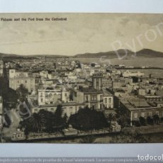 Postales: LAS PALMAS AND THE PORT FROM THE CATHEDRAL. BAZAR ALEMÁN. Lote 195328481