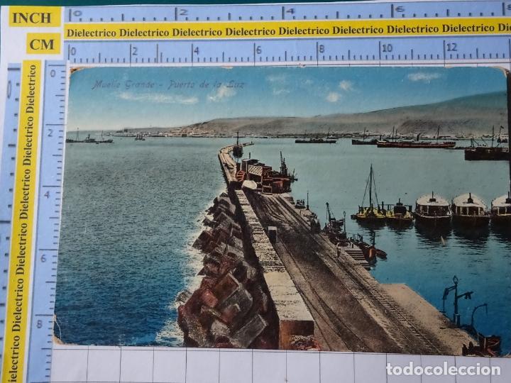 POSTAL DE GRAN CANARIA. AÑOS 10 30. MUELLE GRANDE PUERTO DE LA LUZ. RODRIGUES. 134 (Postales - España - Canarias Antigua (hasta 1939))