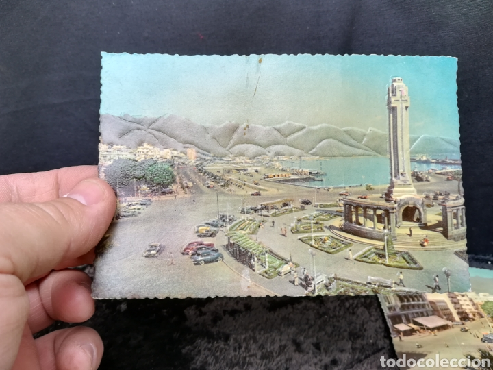Postales: 5 postales antiguas en relieve de Tenerife - Foto 2 - 195432995