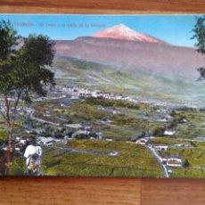 Cartoline: TARJETA POSTAL SANTA CRUZ DE TENERIFE - EL TEIDE Y EL VALLE DE LA OROTAVA. Lote 197514727