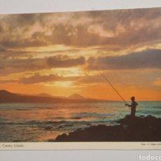 Postales: POSTAL ISLAS CANARIAS CREPÚSCULO JOHN HINDE TWILIGHT. Lote 197595392