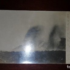 Postales: ERUPCIÓN VOLCÁNICA AL OESTE DEL PICO DE TENERIFE - 1909. Lote 197918480