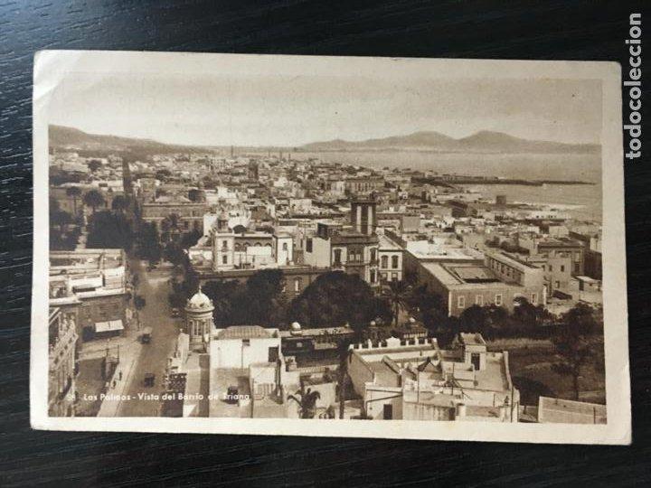 LAS PALMAS DE GRAN CANARIA POSTAL VISTA DEL BARRIO DE TRIANA - BAZAR ALEMÁN (Postales - España - Canarias Antigua (hasta 1939))