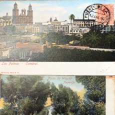 Postales: DOS POSTALES. 1916 LAS PALMAS-HOLANDA. 1904 TENERIFE-INGLATERRA. Lote 202035141