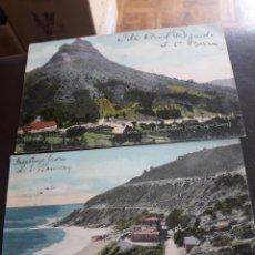 Postales: 2 ANTIGUAS POSTALES DE 1907,SELLADAS Y MATASELLADA, A CANARIAS. Lote 202870797
