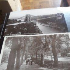 Postales: DOS ANTIGUAS POSTALES DE 1910, SELLADAS Y MATASELLADAS A CANARIAS, DESDE BRISTOL. Lote 202871046