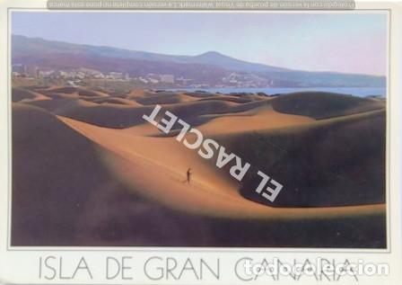 ANTIGÜA FOTO POSTAL DE GRAN CANARIA - PLAYA DEL INGLES - CIRCULADA AÑO 1988 (Postales - España - Canarias Moderna (desde 1940))