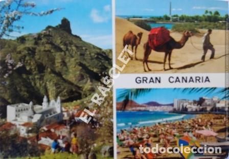 ANTIGÜA FOTO POSTAL DE GRAN CANARIA - CIRCULADA AÑO 1977 (Postales - España - Canarias Moderna (desde 1940))