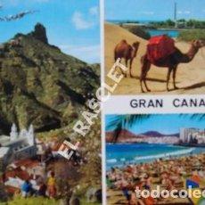 Postales: ANTIGÜA FOTO POSTAL DE GRAN CANARIA - CIRCULADA AÑO 1977. Lote 202948871