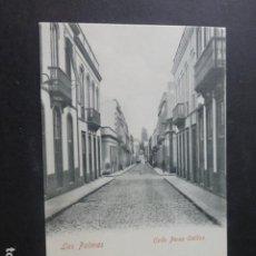 Postales: LAS PALMAS DE GRAN CANARIA CALLE PEREZ GALDOS REVERSO SIN DIVIDIR. Lote 203757527