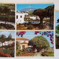 Postales: LOTE 5 POSTALES. DRAGOS MILENARIO Y DEL SEMINARIO, TENERIFE (ISLAS CANARIAS). AÑOS 70-80.. Lote 207086095