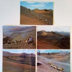 Postales: LOTE 7 POSTALES. MONTAÑAS DEL FUEGO, LANZAROTE (CANARIAS). AÑOS 60-80. SIN CIRCULAR.. Lote 207112555