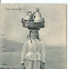 Postales: TENERIFE-TIPO CAMPESINO MUJER VENDEDORA DE LECHE. Lote 207580832