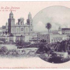 Cartes Postales: LAS PALMAS DE GRAN CANARIA. A. ALZOLA MARTÍN. LIBRERÍA Y PAPELERÍA PEREGRINA. SIN DIVIDIR (C.1900). Lote 207863063
