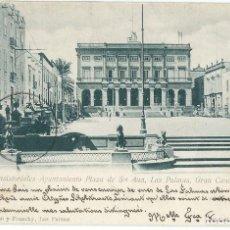 Postales: CASAS CONSISTORIALES AYUNTAMIENTO PLAZA DE STA ANA LAS PALMAS GRAN CANARIA.. Lote 208301531