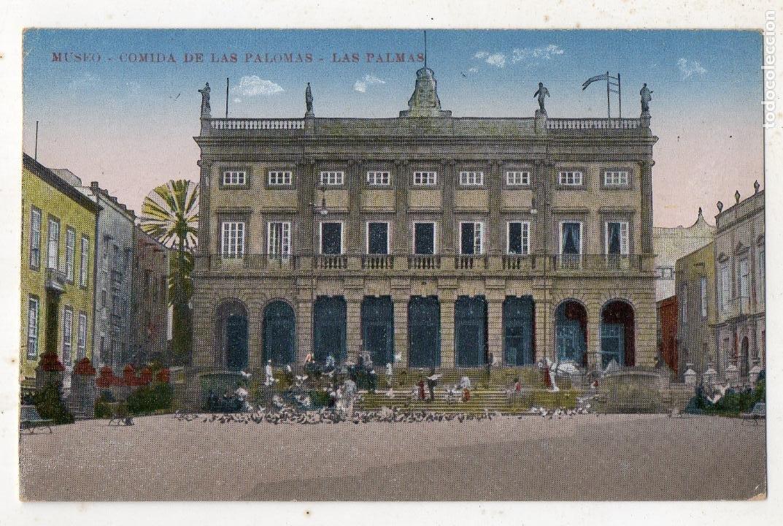 LAS PALMAS. MUSEO. COMIDA DE LAS PALOMAS. (Postales - España - Canarias Antigua (hasta 1939))
