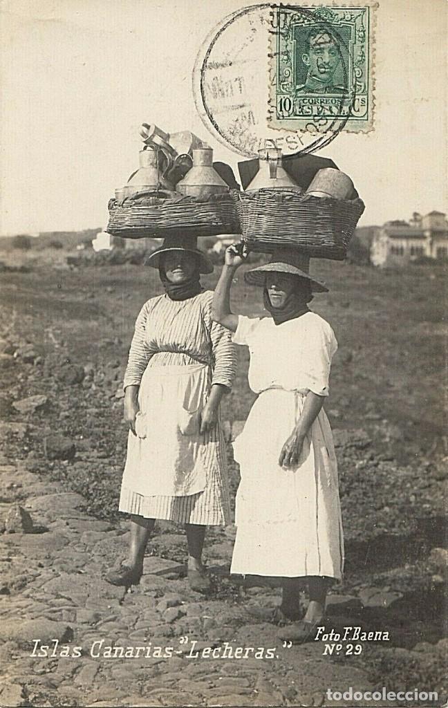 POSTAL ISLAS CANARIAS, LECHERAS F. BAENA 29, ENVIADA DE LA MARINA ALEMANA 1926, FRANQUEO MIXTO REICH (Postales - España - Canarias Antigua (hasta 1939))