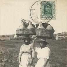 Postales: POSTAL ISLAS CANARIAS, LECHERAS F. BAENA 29, ENVIADA DE LA MARINA ALEMANA 1926, FRANQUEO MIXTO REICH. Lote 210635537