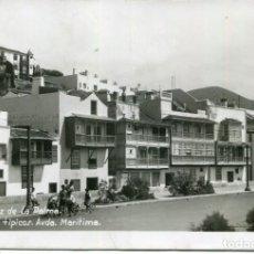 Postales: LA PALMA-SANTA CRUZ DE LA PALMA-BALCONES TÍPICOS EN AVDA MARÍTIMA-FOTOGRÁFICA- RARA. Lote 210844889