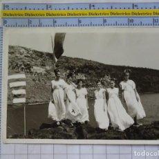 Postales: FOTO POSTAL LA GOMERA. AÑOS 30 50. NIÑAS MUJERES TRAJE TÍPICO? CARNAVALES?. 1190. Lote 210978372
