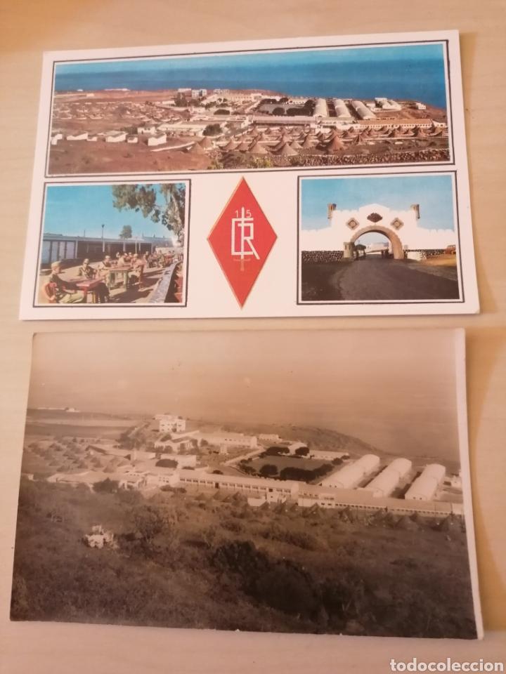ANTIGUA FOTOGRAFÍA POSTAL CAMPAMENTO DE HOYA FRÍA 1963 + POSTAL (Postales - España - Canarias Moderna (desde 1940))