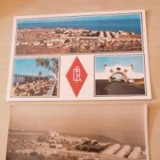Postales: ANTIGUA FOTOGRAFÍA POSTAL CAMPAMENTO DE HOYA FRÍA 1963 + POSTAL. Lote 211499684