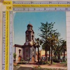 Postales: POSTAL DE TENERIFE. AÑO 1962. PUERTO DE LA CRUZ, PLAZA DE LA IGLESIA 206 VALMAN. 570. Lote 211623161
