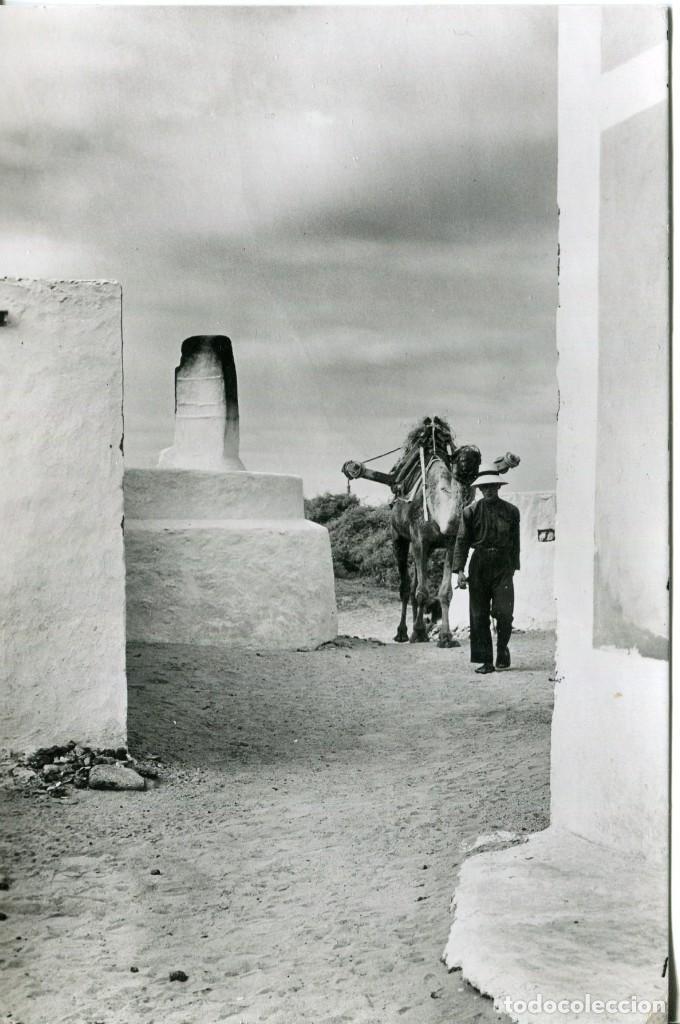 LA GRACIOSA-LANZAROTE-CAMPESINO Y CAMELLO- FOTOGRÁFICA- MUY RARA (Postales - España - Canarias Moderna (desde 1940))