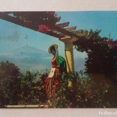 Postales: TENERIFE TEIDE Y TRAJE TIPCO. Lote 212285737