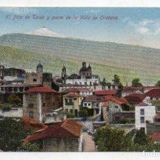 Postais: TENERIFE. EL PICO DEL TEIDE Y PARTE DE LA VILLA OROTAVA.. Lote 213755851