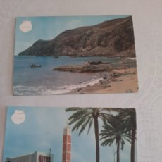 Postales: LAS PALMAS IGLESIA SCHAMANN Y PLAYA SALINAS ARCFRAN. Lote 213892657