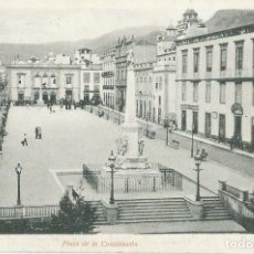 Postales: SANTA CRUZ TENERIFE PLAZA DE LA CONSTITUCION. SIN EDITOR Nº 12. ANTERIOR 1905 (CATALOGO P CASTELLS). Lote 214005161