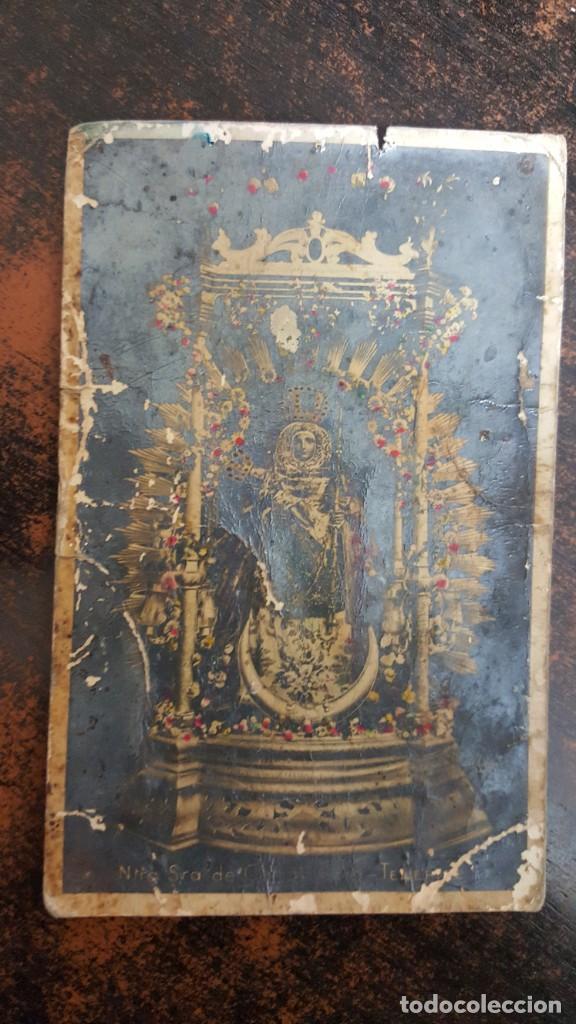 POSTAL VIRGEN DE CANDELARIA MUY RARA. PRINCIPIOS DEL SIGLO XX. VER FOTOGRAFÍAS. (Postales - España - Canarias Antigua (hasta 1939))