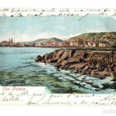 Postales: TARJETA POSTAL LAS PALMAS. BAZAR ALEMAN. 1906. Lote 214174713