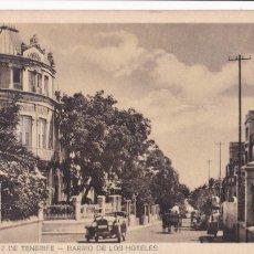 Postales: SANTA CRUZ DE TENERIFE BARRIO DE LOS HOTELES. SIN CIRCULAR. Lote 218930257